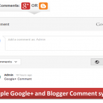 Google+ on Blogger Comments