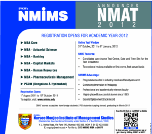 10 Best Colleges which accept NMAT Cut-off